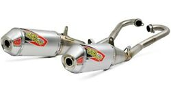 Pro Circuit T-6 Stainless Dual Exhaust System Honda Crf250r Fits 2018 To 2019