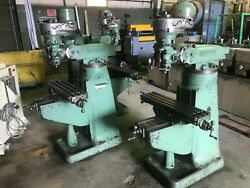 1 Hp Bridgeport Mill 5andprime Quill Travel R-8 Taper 42andprime X 9andprime Table 8 Speeds 80 Andndash 2720