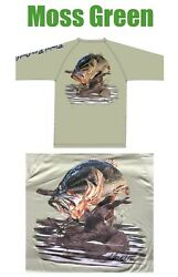 "Men's Bimini Bay ""Hook 'Em"" LS Performance Tee— Choose Design Color Size"