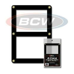10 BCW BLACK BORDER SCREWDOWN DOUBLE TRADING CARD HOLDER 2 CARD FRAME