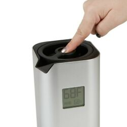 Mind Reader Double Walled Thermal Carafe Temperature Display, 32 oz Silver
