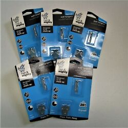 Five 5 Packs Hillman 515300 High amp; Mighty Wall Hanging Hooks Holds Up To 20 Lbs