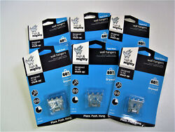 Six 6 Packs Hillman 515303 High amp; Mighty Wall Hanging Hooks Holds Up To 60 Lbs