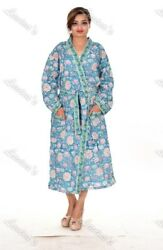 Gypsy Evening Wear Floral Wraps Cotton Block Printed Intimates Summer Kimono 110
