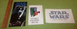 1995 Star Wars Saving Book And Envelope And Insert Sci-fi Rare Collectible