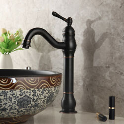 Bathroom Faucet Orb Brass Single Handle / Hole Basin Mixer Taps Deck Mounted