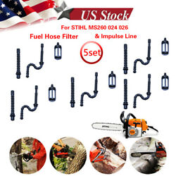 5gas Fuel Hose Line Filter Impulse Line For Stihl Ms260 024 026 034 036 Chainsaw