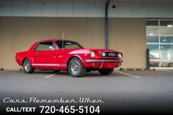 1966 Ford Mustang 289 V8  Factory AC  4-Speed  Console 289 V8 4-Speed manual Red
