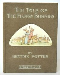 THE TALE OF THE FLOPSY BUNNIES 1909 1ST EDITION 1ST PRINT BEATRIX POTTER FINE