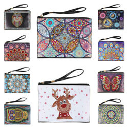 DIY Special Shaped Diamond Painting Wristlet Clutch Women Wallet Purse Gifts Lot