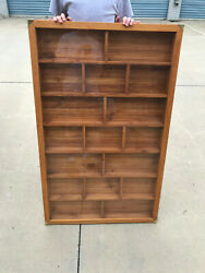 Solid Wood Hand Made Pez Or Other Collectible Display Shelves With Door