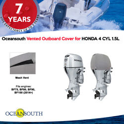 Oceansouth Vented Outboard Motor Cover For Honda 4 Cyl 1.5l
