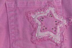 $119 NEW 7 For all Mankind GIRL Kids Jeans Pink Lilac Star CRYSTALS Jeweled 5