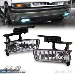 Clear Bumper Fog Lights Driving Lamps Fits 00-06 Chevy Suburban/ Tahoe