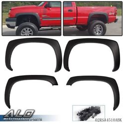 Fit For Gmc Sierra Chevy Silverado 99-07 Matte Factory Style Fender Flares