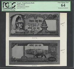 Nepal Face And Back 100 Rupees Unissued Pick Ulisted Photograph Proof Uncirculated