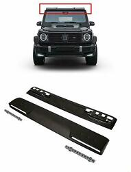 W464 Merecdes G-class G Wagon 2018+ Roof Front Spoiler Fiberglass With Led
