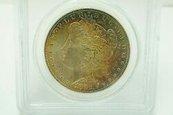 1882 P Morgan Pcgs Ms64 Uncirculated Silver Dollar Coin Ogh Toned Toning 1