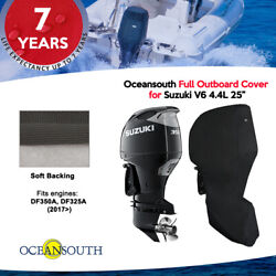 Oceansouth Outboard Storage Full Cover For Suzuki V6 4.4l 25 Leg