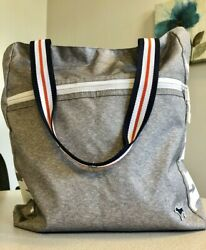 Victoria's Secret Pink Brand Large Tote  Gray with White Logo