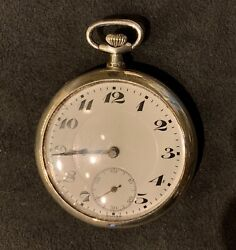 1900andrsquos Genuine Swiss Sterling Silver Pocketwatch 7 Jewels 12s Beauty Rare