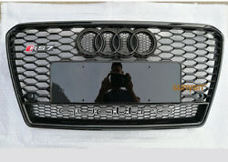 Full Black A7 Front Grille Grill For Audi A7 Sline And S7 2011-15 To Rs7 Style
