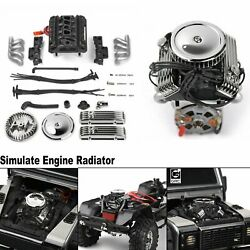 Simulate V8 Engine Motor F82 Motor Cooling Fan For 1/10 Rc Trx4 Scx10 Rc4wd Car