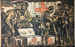Wwi Poster Vintage Sf Brangwyn First Aid Military Poster 1917