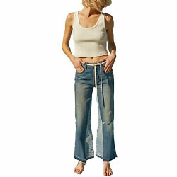 Amo New With Tags Kick Crop Jean Mixed Blues