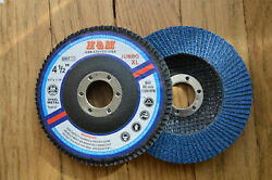 100pcs 4-1/2-inch Jumbo Xl Flap Discs 4-1/2 X 7/8 60 Grit For Ss And Metal