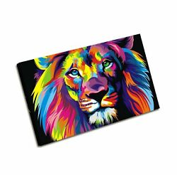Large Wall Art Modern Painting Wall Decoration Colorful Lion Art Pictures Pri...
