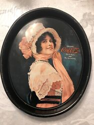 Coca-cola Coke 1914 Betty Reproduction Tin Metal Drink Serving Tip Tray