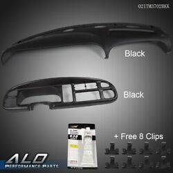 For 98-02 Dodge Ram Instrument Panel Dash Bezel And Dash Board Cover Pad Overlay
