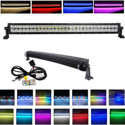 32 Inch 180w Straight Led Light Bar Offroad W/ Rgb Halo Chasing For Atv 4x4 Ute