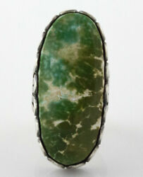 8.5 - High Grade Natural Pilot Mountain Turquoise Ring By Ella M. Linkin