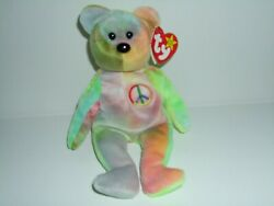 Rare Premie Ty Peace Bear Beanie Baby Mint Museum Quality Authenticated