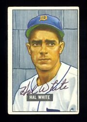 1951 Bowman Baseball Card 320 Hal White Autographed Signed Detroit Tigers