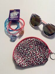 Girls Accessory Lot Paw Patrol Bracelets Shopkins Sunglasses Pink Zip Pouch New
