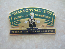 2000 Shannons Sale National 1 And 2 Cylinder Tour Car Badge
