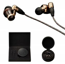 Victor JVC HA-FW10000 WOOD Series Canal Type Earphone re-cable  High-res Black