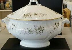 Imperial Porcelain Russian Gardner Factory Large Tureen 10 Tall