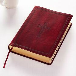 The Holy Bible Kjv Super Giant Printthumb Indexed Red Letterburgandy
