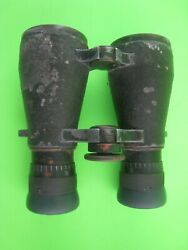 Vintage German Wwi Fernglas 08 Military Field Binoculars With Leather Case-rare