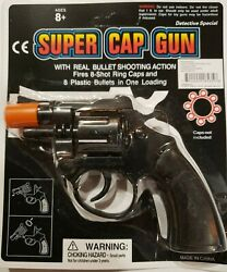 Super Cap Gun Fires 8 Shot Ring Caps Free Gifts Included