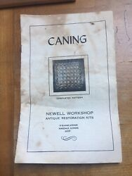Caning Newell Workshop Antique Restoration Kits Booklet Book — For Chairs