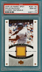 Ud Sweet Spot Willie Mccovey Game Used Jersey Cm-wi Psa 10 Giants Pop 1