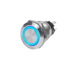 Blue Sea Systems 4160-bss 4160 10a Push Button Led Ring Switch Off-on