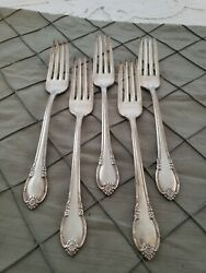 Is Remembrance Set Of 5 Dinner Forks 1847 Rogers Silverplate Flatware Lot C