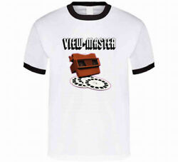 Viewmaster Vintage Retro Classic Old School Throwback Ringer Graphic Tee Shirt