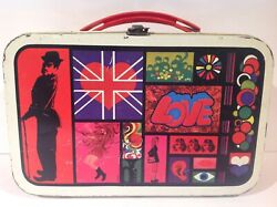 1960's Vintage Chaplin Metal Lunch Box Only From Chile No Thermos Very Rare